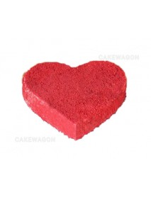 Red velvet heart shape